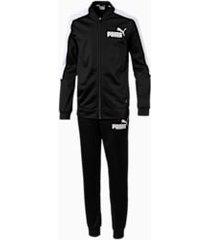 baseball collar boys' track suit, zwart, maat 104 | puma