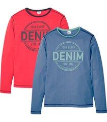 maglia a maniche lunghe (pacco da 2) (blu) - john baner jeanswear