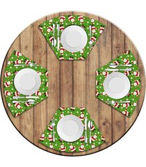 jogo americano   para mesa redonda wevans multi tocas papai noel  love decor - multicolorido - dafiti