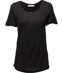 amie ss 2085 t-shirts & tops short-sleeved svart samsøe samsøe