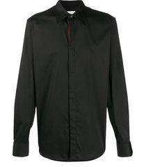 alexander mcqueen pointed collar shirt - black