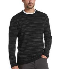 joe joseph abboud black stripe slim fit sweater
