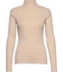 ebo knit turtleneck polotröja beige holzweiler