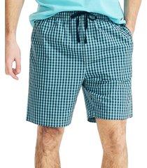 nautica men's checked print pajama shorts