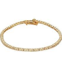 diana m jewels women's 14k yellow gold & 1.0 tcw diamond tennis bracelet