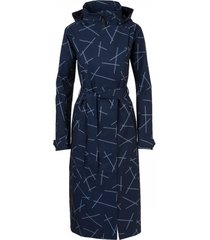 agu regenjas women urban outdoor trench coat navy blue-m