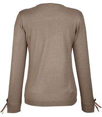 finstickad tröja med rosett på ärmarna dress in mullvad