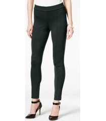style & co petite seamed ponte-knit skinny pants, created for macy's