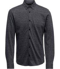 knitted melange shirt