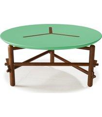 mesa de centro twist 761 cacau/verde anis - maxima