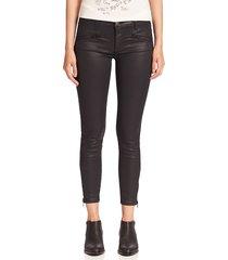 paul & shark women's the soho zip stiletto coated skinny jeans - black coated - size 24 (0)