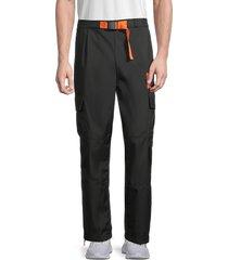 puma men's csm woven cargo sweatpants - black - size s
