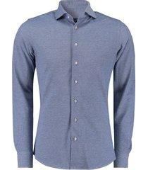 knitted overhemd blauw