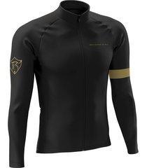 jersey largo invierno performance negro dorado