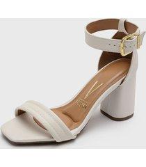 sandalia blanco vizzano