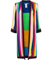 alice+olivia reversible striped kimono - blue