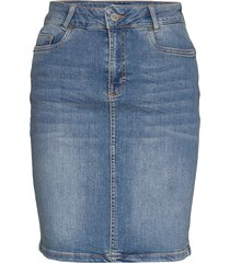 12 the denim skirt kort kjol blå denim hunter