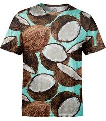 camiseta estampada over fame cocos verde