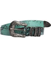 cinturon verona snake verde cuero zappa