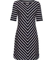 dress knitted fabric jurk knielengte blauw gerry weber edition