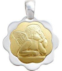 ciondolo angelo in oro bicolore per unisex