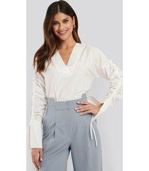 na-kd trend drawstring shirt - white