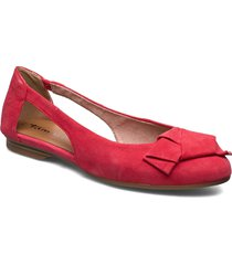 woms ballerina ballerinaskor ballerinas röd tamaris