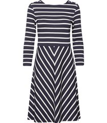 d1. striped dress knälång klänning blå gant