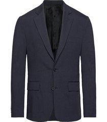 hopper soft-stretch linen blazer colbert blauw j. lindeberg
