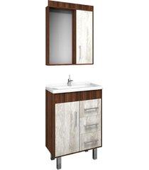 conjunto de banheiro são joão fit, castaine e calcare, 60 cm