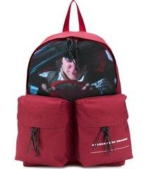 undercover cargo pocket backpack - red