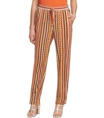dkny striped straight leg pants