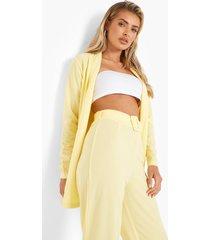 blazer en broek set, yellow