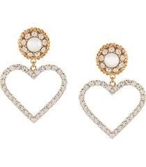 alessandra rich oversized heart earrings - gold
