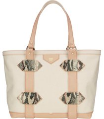 kelly wynne small out of town tote - beige