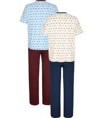 pyjamas roger kent bordeaux::blå