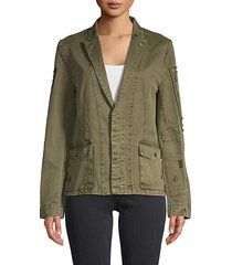 embellished cotton jacket