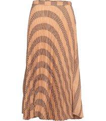 rosy check knälång kjol brun line of oslo