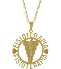 gargantilha horus import fisioterapia banhada ouro 18k feminina