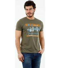 camiseta de hombre, cuello redondo, manga corta, con estampado bowl