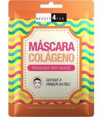 máscara facial beauty 4 fun anti-idade colágeno 1 un
