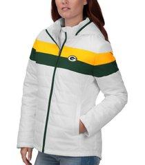 g-iii sports women's green bay packers tie breaker polyfill jacket