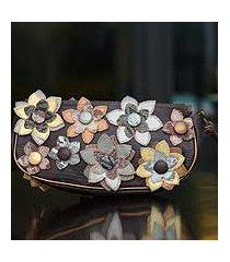 wristlet bag, 'garden' (brazil)