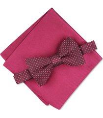 alfani men's roy geo pre-tied bow tie, created for macy's
