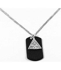 collar gris diesel cuero piramide