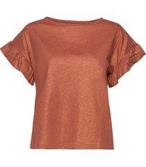 day permanent t-shirts & tops short-sleeved orange day birger et mikkelsen