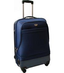 """maleta de viaje mediana híbrido 24"""" azul - explora"""