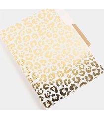 graphique® pink & gold leopard file folder set - multi