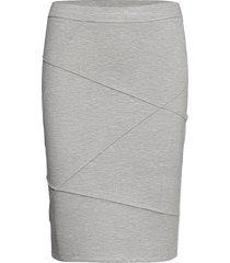visif new pencil skirt knälång kjol grå vila