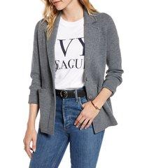women's 1901 stretch wool blend sweater blazer, size x-large - grey
